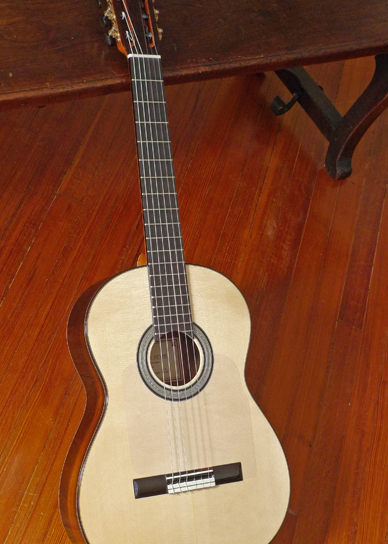 Lester Devoe Brazilian Rosewood Flamenco Negra Guitar