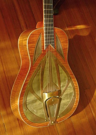 Nobles Custom Resonator Guitar Front Close