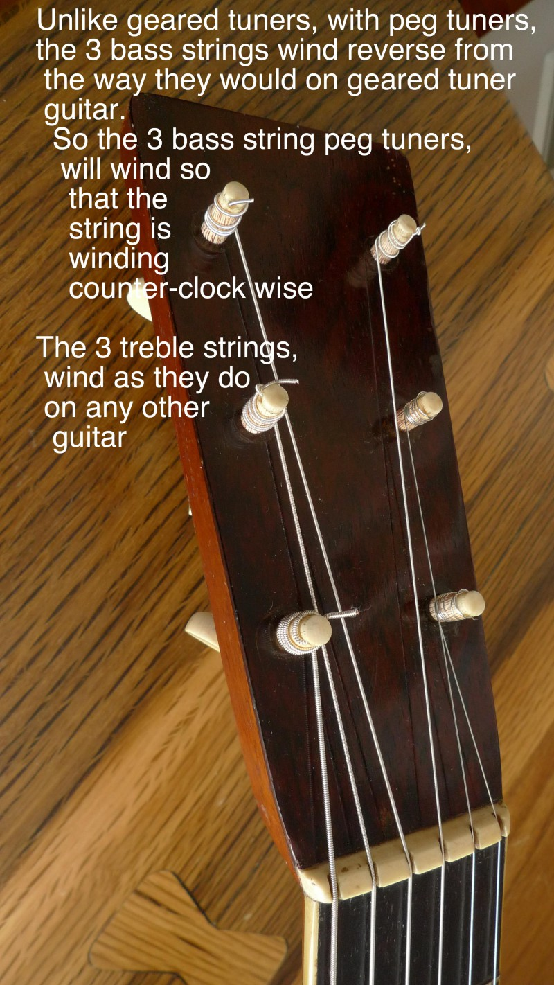 Setting up and tuning a 19th-century Martin with ivory tuning pegs