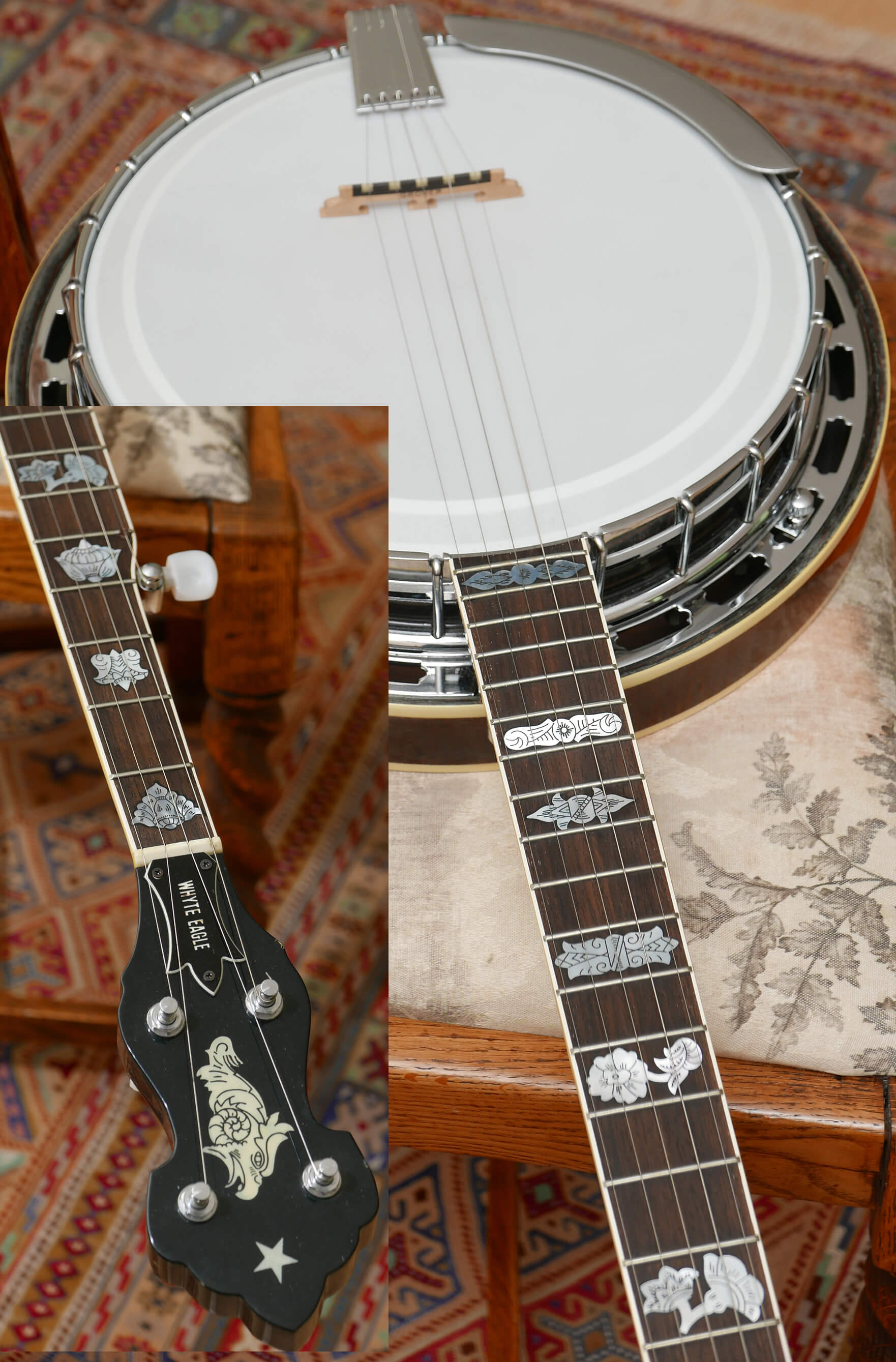 Rare Whyte Eagle 5 string Banjo very early production