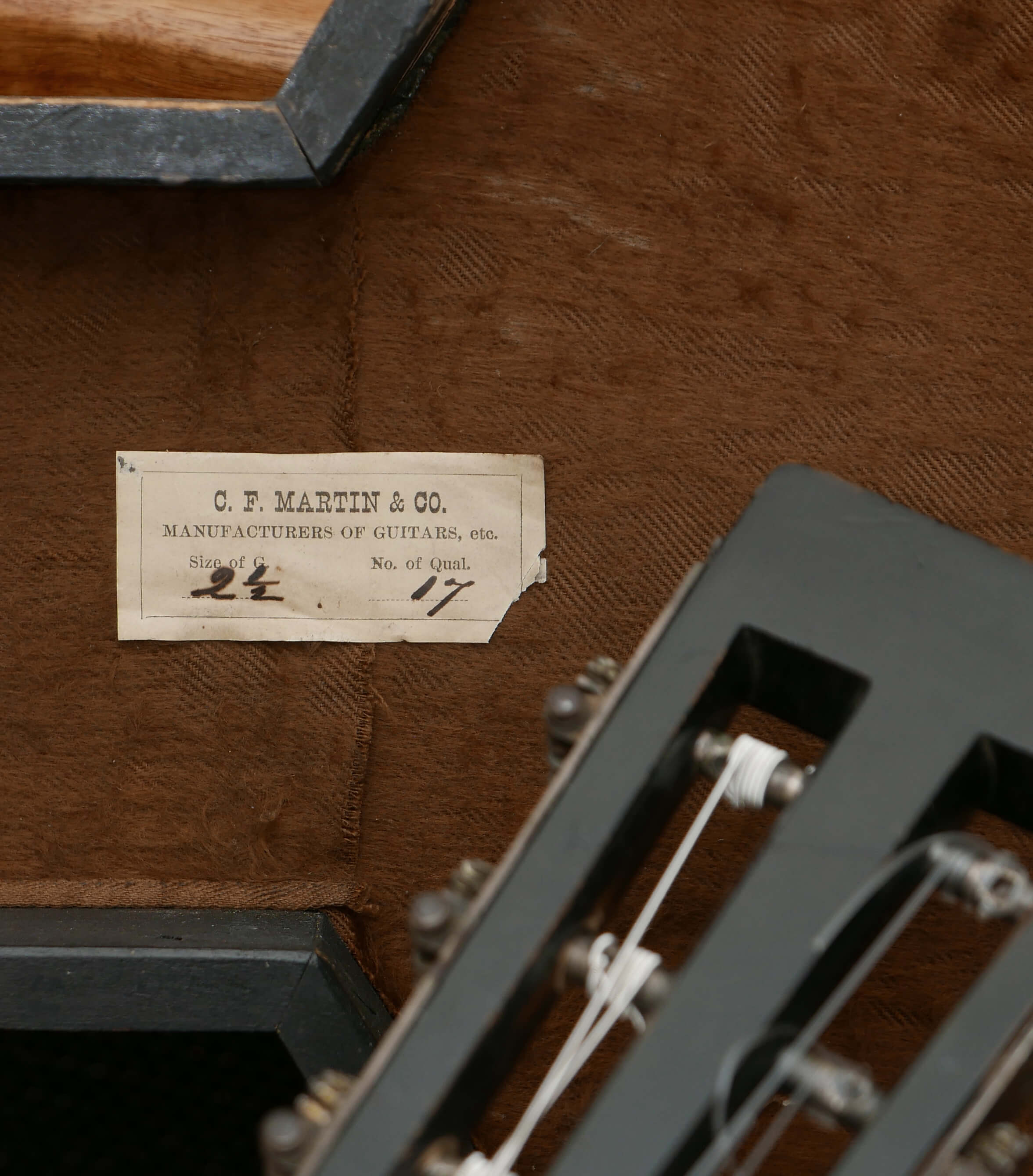 1869 Martin 2 1/2-17 Guitar, Brazilian Rosewood - Vintage