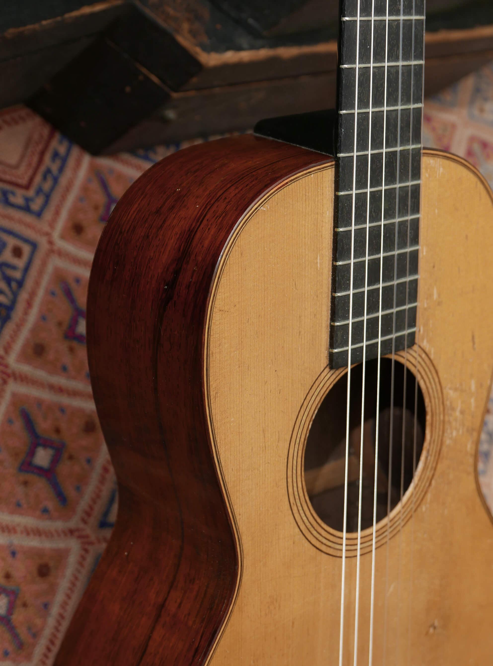 1869 Martin 2 1/2-17 Guitar, Brazilian Rosewood - Vintage American